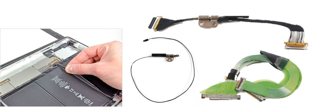 Micro Coax Cables for notebooks, laptops